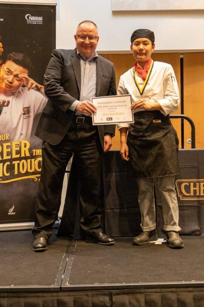 Nestle golden chefs Hat Award
